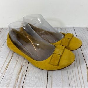 Adam Tucker Prescott Leather Yellow Ballet Flats